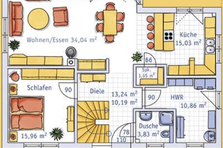 ... individuell geplant ! - Schlichte Architektur mit südländischem Charme und viel Platz - www.jk-traumhaus.de - grundriss eg