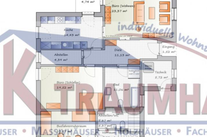 ... individuell geplant ! - Stadtvilla mit Gewerbeanteil- www.jk-traumhaus.de - Grundriss EG