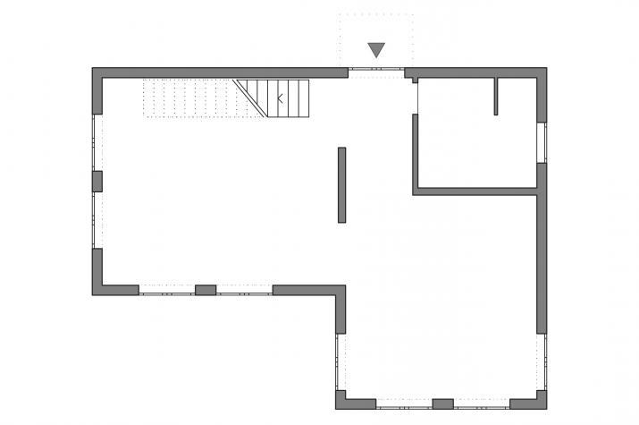 5 x 5 kompakt Haus 07-01 - Grundriß Erdgeschoß