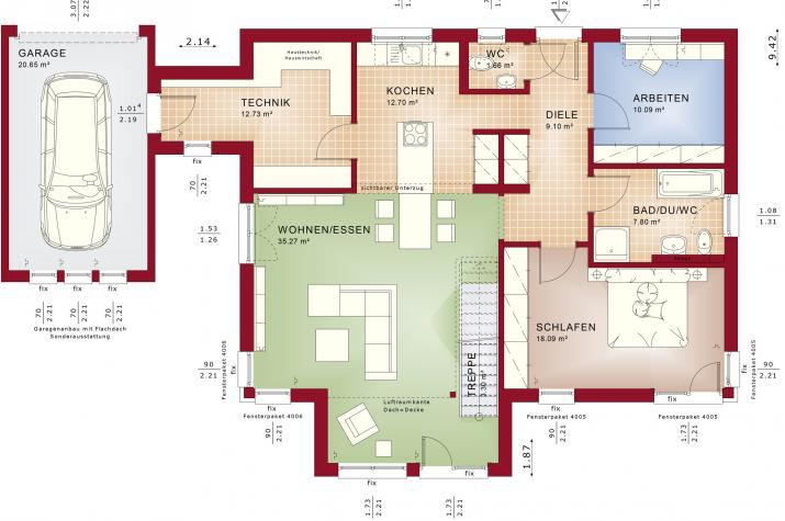 AMBIENCE 100 V5 - Grundriss Erdgeschoss