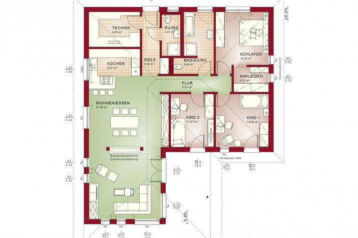 AMBIENCE 110 V3 - Grundriss Erdgeschoss
