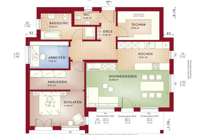 AMBIENCE 77 V4 - Grundriss Erdgeschoss