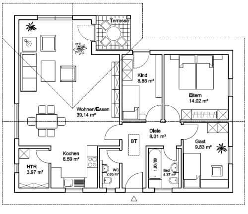 Grundriss Fur Bungalow : Bungalow 5 Zimmer Grundriss Picture Pictures to pin on Pinterest