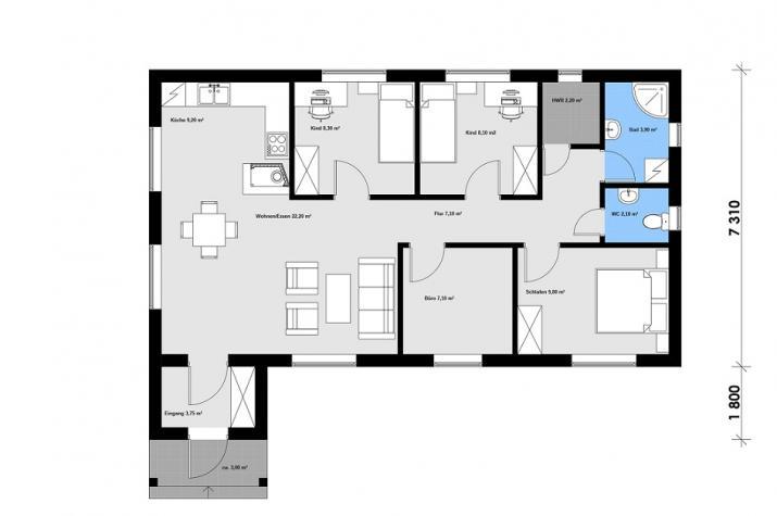 Ausbauhaus 100/1 - 59.900.-- € inkl. 19% MwSt. -