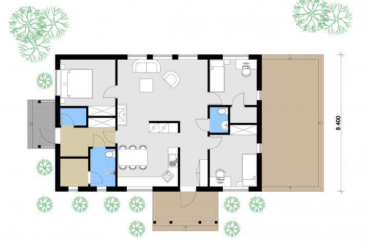 Ausbauhaus 106 - 59.900.-- € inkl. 19% MwSt. -
