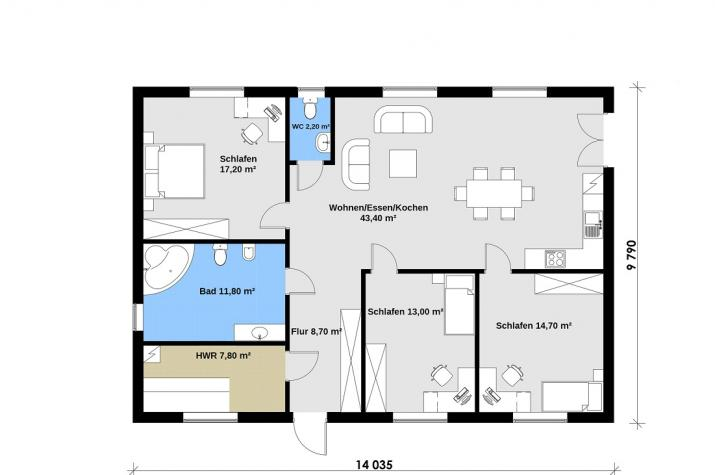 Ausbauhaus 137 - 59.900.-- € inkl. 19% MwSt. -
