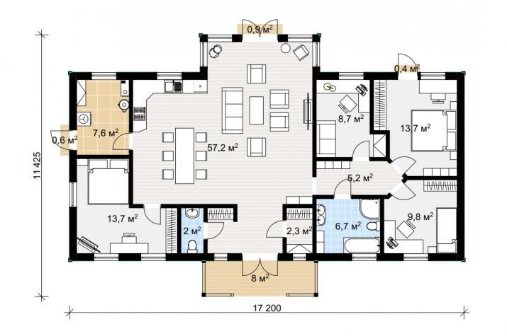 Ausbauhaus 137/1 - 99.050.-- € inkl. 19% MwSt.  - Grundriss