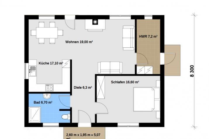 Ausbauhaus 86 - 59.900.-- € inkl. 19% MwSt. -