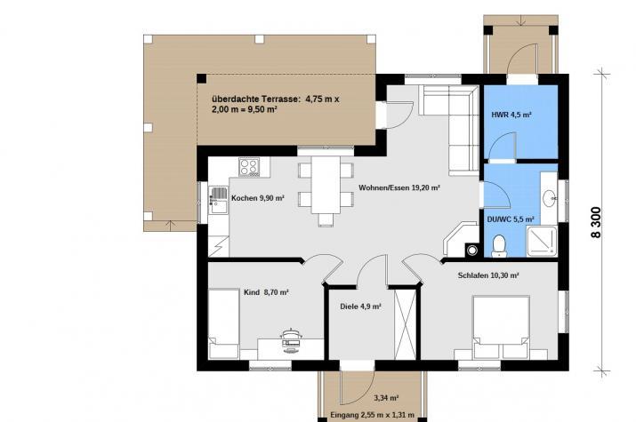 Ausbauhaus 86/1 - 59.900.-- € inkl. 19% MwSt.  -
