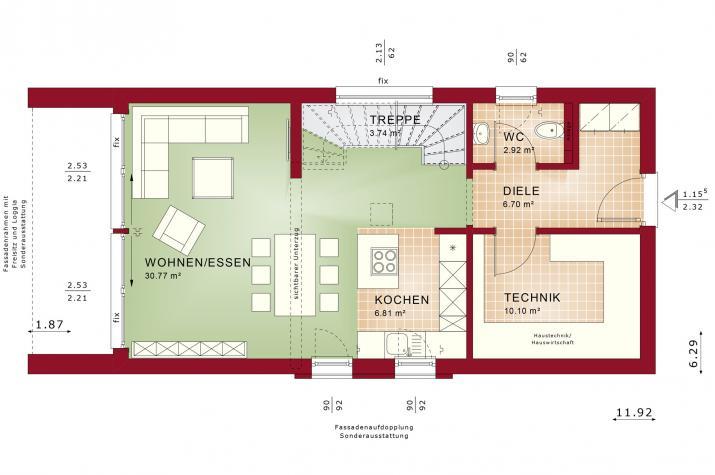 BALANCE 121 V3 - Grundriss Erdgeschoss