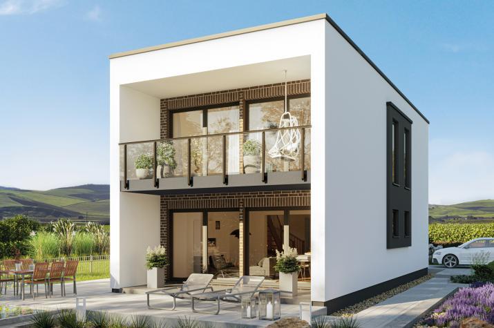 BALANCE 121 V3 - Modernes Einfamilienhaus mit tollem Fassadenkonzept