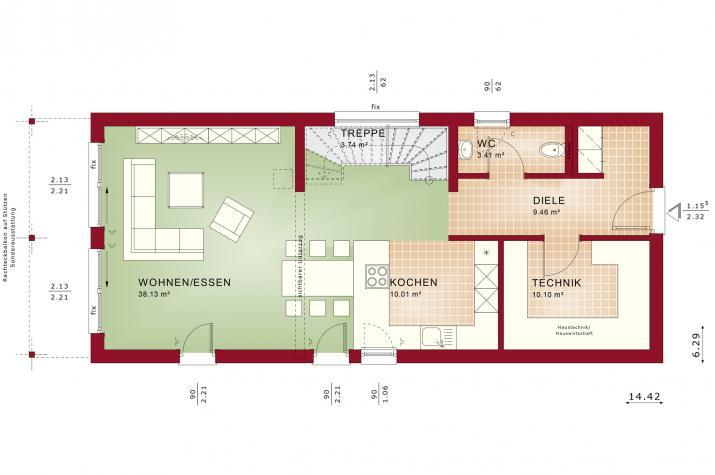 BALANCE 148 V2 - Grundriss Erdgeschoss