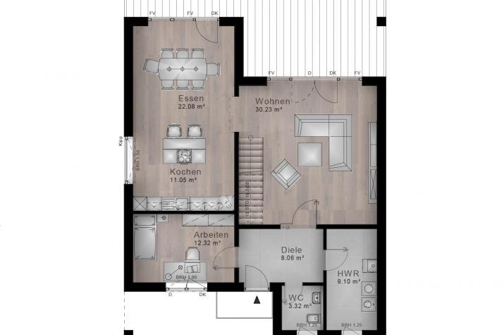 BAUHAUS HOLLER 10-029 - Grundriss Erdgeschoss