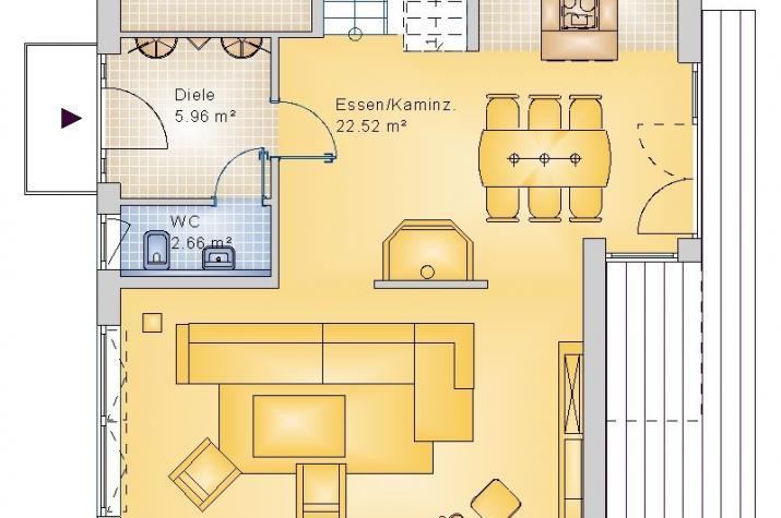 BAUHAUS NIEDERFELL 10-023 - Grundriss Erdgeschoss