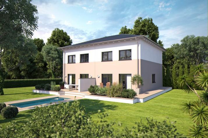 Bärenhaus Doppelhaus Duo 110 - Duo 110 Garten