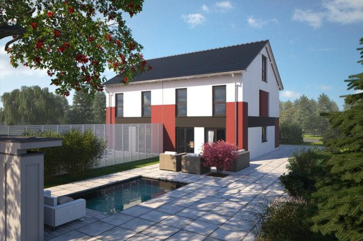 Bärenhaus Doppelhaus Duo 148 - Duo 148 Garten