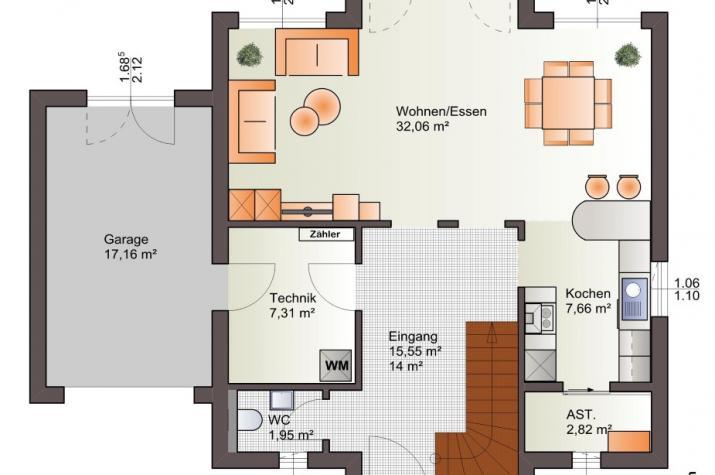 Bärenhaus Einfamilienhaus Eos 161 - Eso 161 Erdgeschoss