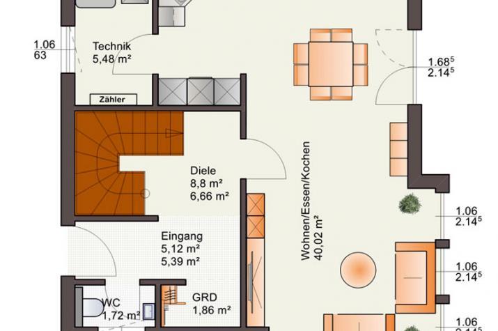 Bärenhaus Einfamilienhaus Esprit 117 - Esprit 117 Erdgeschoss