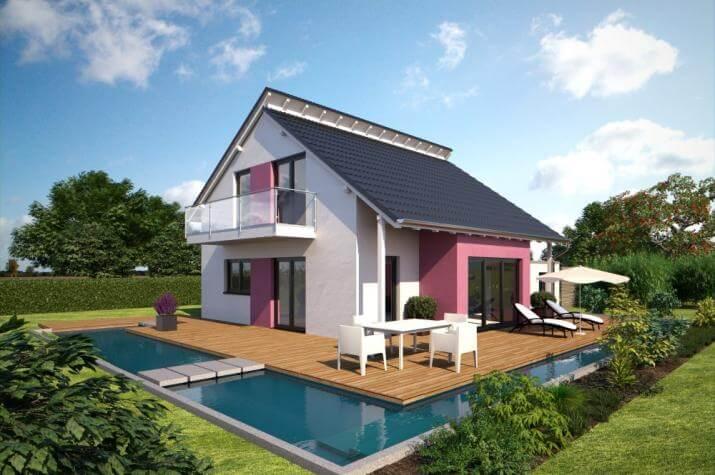 Bärenhaus Einfamilienhaus Esprit 125 - Esprit 125 Garten