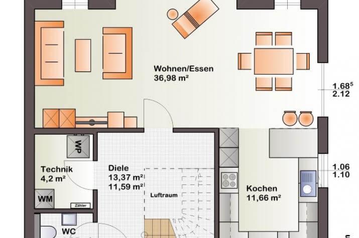 Bärenhaus Einfamilienhaus Esprit 125 - Esprit 125 Erdgeschoss