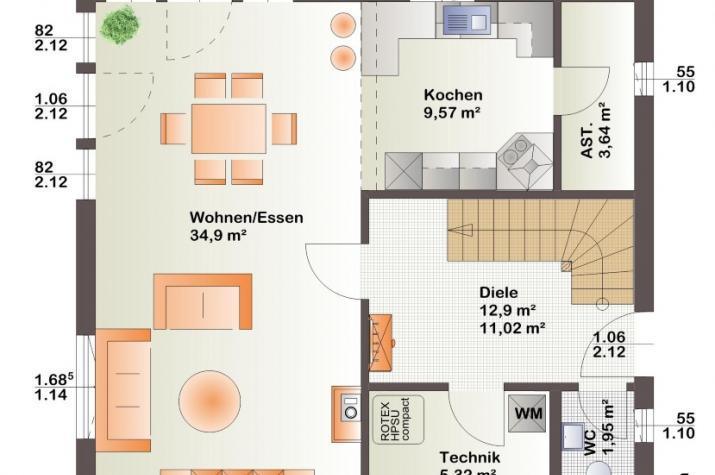 Bärenhaus Einfamilienhaus Esprit 126 - Esprit 126 Erdgeschoss