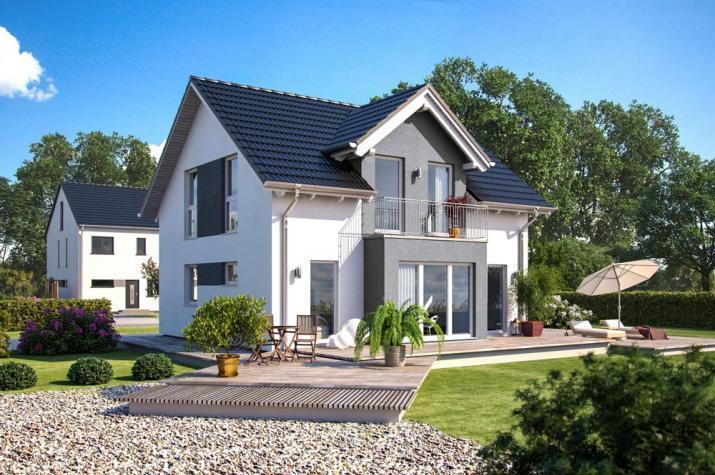 Bärenhaus Einfamilienhaus Esprit 127 - Esprit 127 Garten