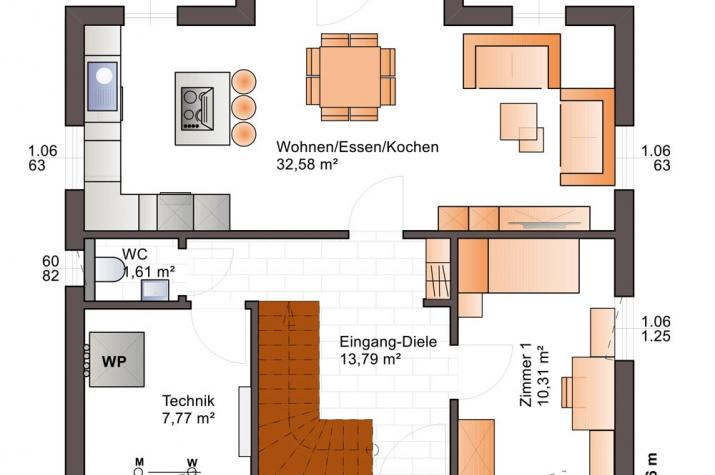 Bärenhaus Einfamilienhaus Esprit 127 - Esprit 127 Erdgeschoss
