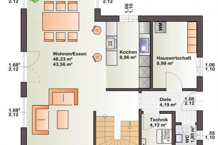 Bärenhaus Einfamilienhaus Esprit 137 - Esprit 137 Erdgeschoss