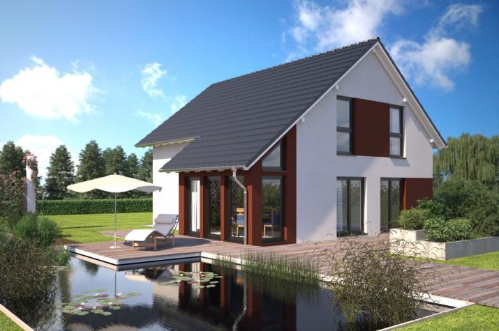Bärenhaus Einfamilienhaus Esprit 137 - Esprit 137 Garten mit Wintergarten