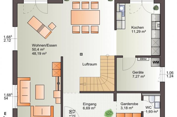 Bärenhaus Einfamilienhaus Esprit 155 - Esprit 155 Erdgeschoss