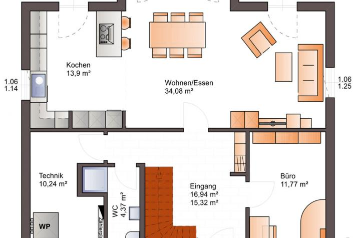 Bärenhaus Einfamilienhaus Esprit 176 - Esprit 176 Erdgeschoss