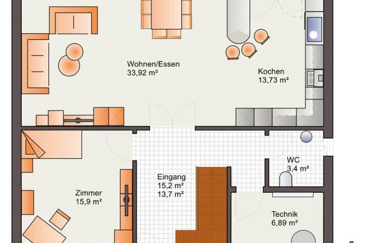 Bärenhaus Stadtvilla Eos 169 - Eos 169 Erdgeschoss
