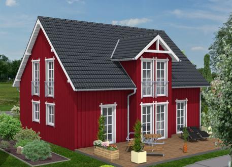 Bauen Sie im  Schwedenhausstil mit Holzverbundhaus - Holzverbundhaus Grosch + Hobmeier GmbH