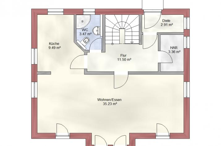 Bauen Sie im  Schwedenhausstil mit Holzverbundhaus -