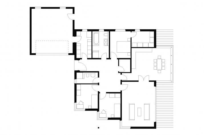 Bungalow | BU4 | 140 qm | KfW55 - Grundriss EG