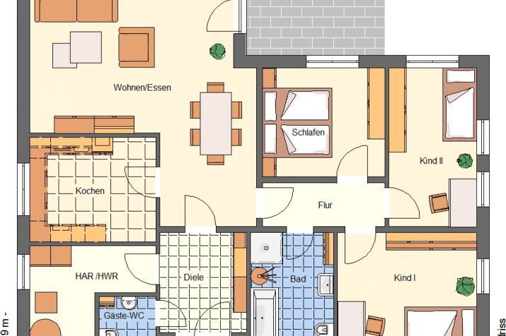 Bungalow 119 - da will ich wohnen im Alter - Grundriss