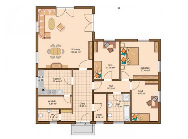 Bungalow grundrisse 4 schlafzimmer ~ Ihr Traumhaus Ideen