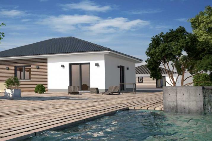 Bungalow mit 90 m²  - Kleines Raumwunder - Beispiel Holzverkleidung als Aufmusterung