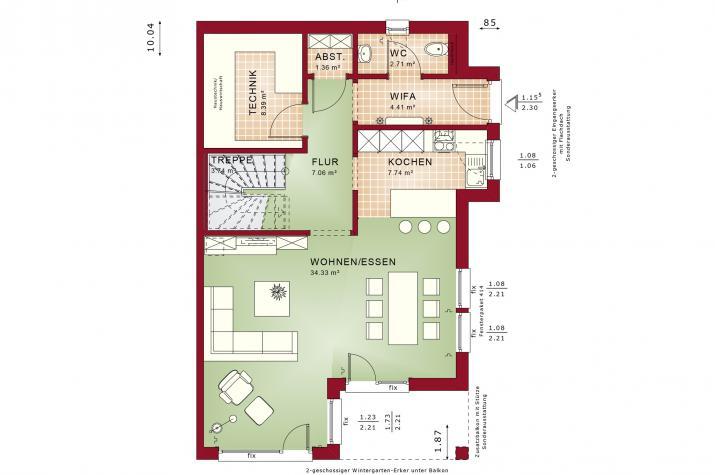 CELEBRATION 122 V3 XL - Grundriss Erdgeschoss