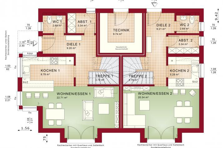 CELEBRATION 192 V2 - Grundriss Erdgeschoss