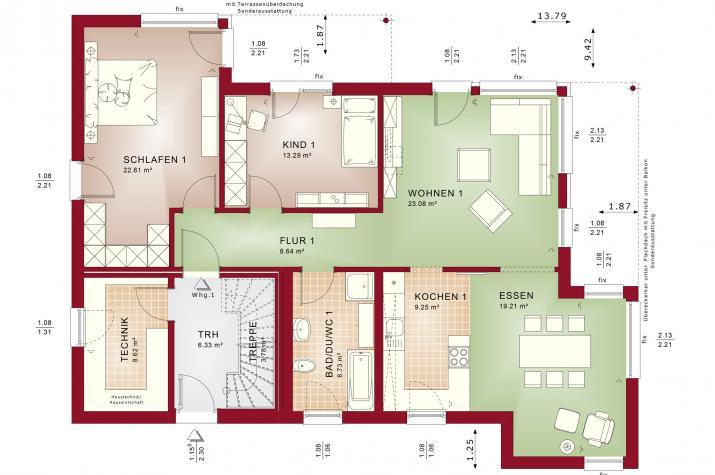 CELEBRATION 211 V4 - Grundriss Erdgeschoss