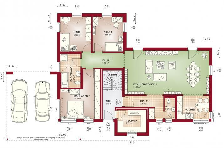 CELEBRATION 282 V3 - Grundriss Erdgeschoss