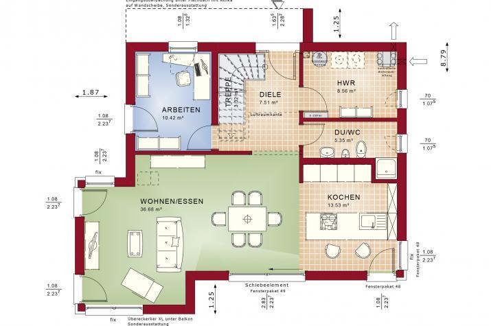 CONCEPT-M 145 Zweibrücken - Grundriss Erdgeschoss