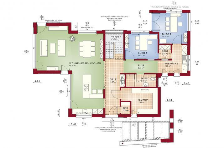 CONCEPT-M 154 Hannover - Grundriss Erdgeschoss