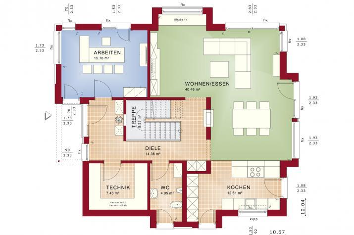 CONCEPT-M 163 Dresden - Grundriss Erdgeschoss