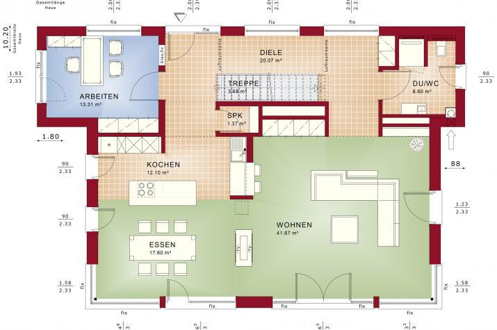 CONCEPT-M 165 Wuppertal - Grundriss Erdgeschoss