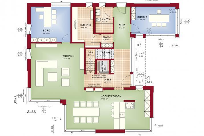 CONCEPT-M 211 Mannheim - Grundriss Erdgeschoss