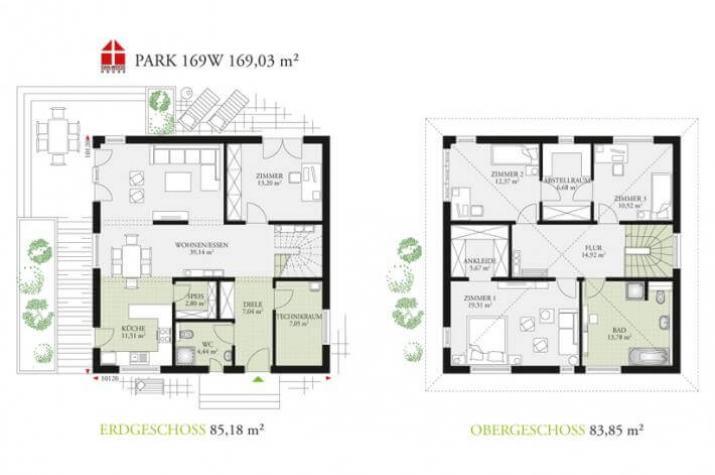 DAN-WOOD House Park 169W - Grundriss DAN-WOOD House PArk 169W