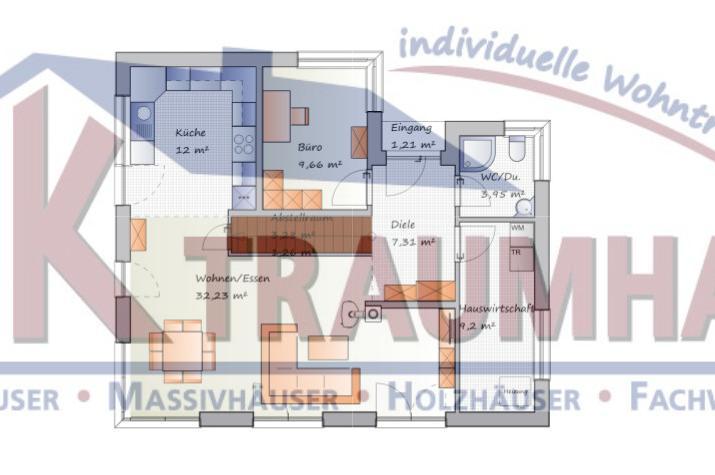 Das Bauhaus für die ganze Familie - www.jk-traumhaus.de - Grundriss EG