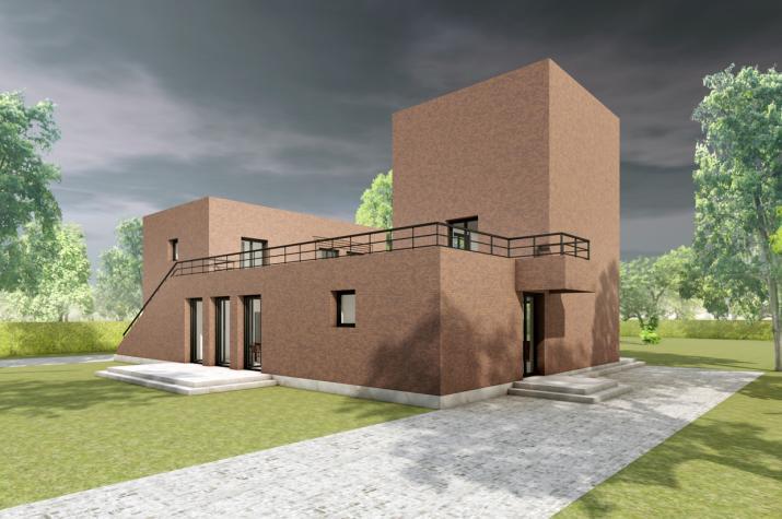 Das Geschwisterhaus 2 in 1 H02 - Eingang der rechten Seite